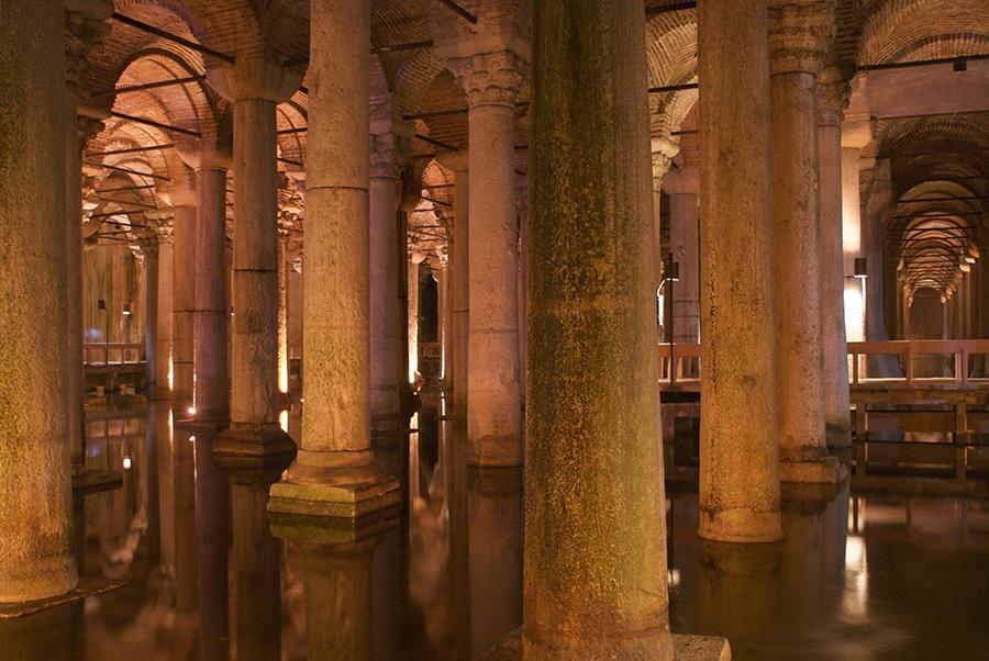 Basilica Cisterne in Istanbul, Turkije