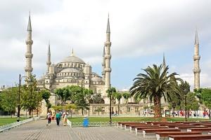 Blauwe moskee (Sultan Ahmetmoskee) in Istanbul, Turkije