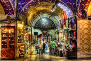Grand bazaar in Istanbul, Turkije