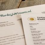 Uitgeprint visum voor Turkije