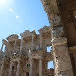 Ruïne van de oude bibliotheek in Efeze