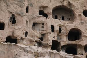 Grotwoningen in Selime, een dorpje in de Ihlara vallei