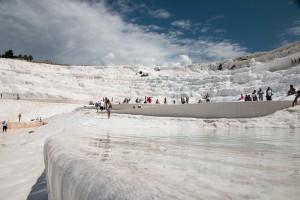 Witte kalkterrassen in Pamukkale