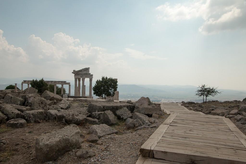 Enkele overblijfselen in Pergamon