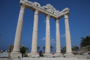 De tempel van Apollo in Side