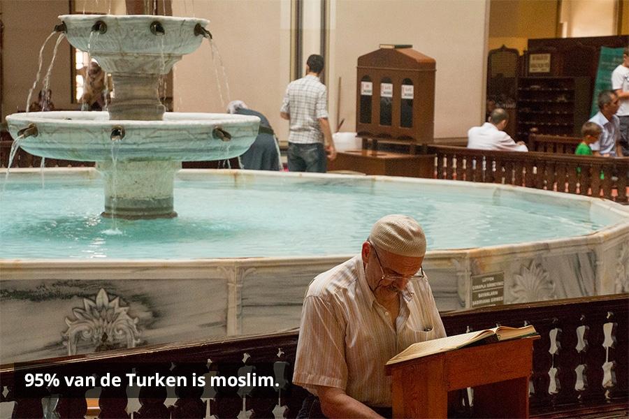 95% van de Turken is moslim.