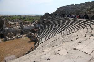 Het amfitheater in Side