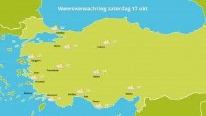 Weersverwachting herfstvakantie Turkije