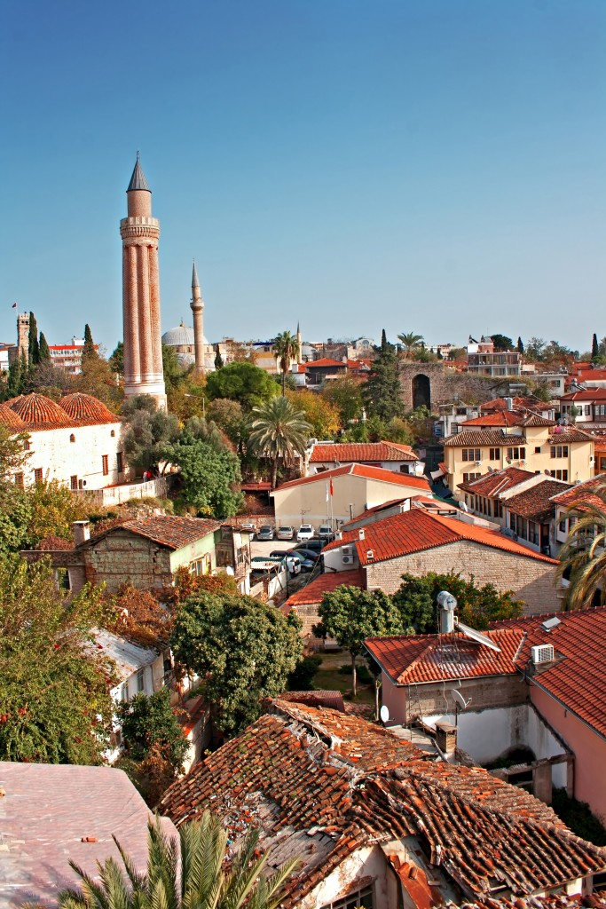 Uitzicht over de oude stad Kaleici