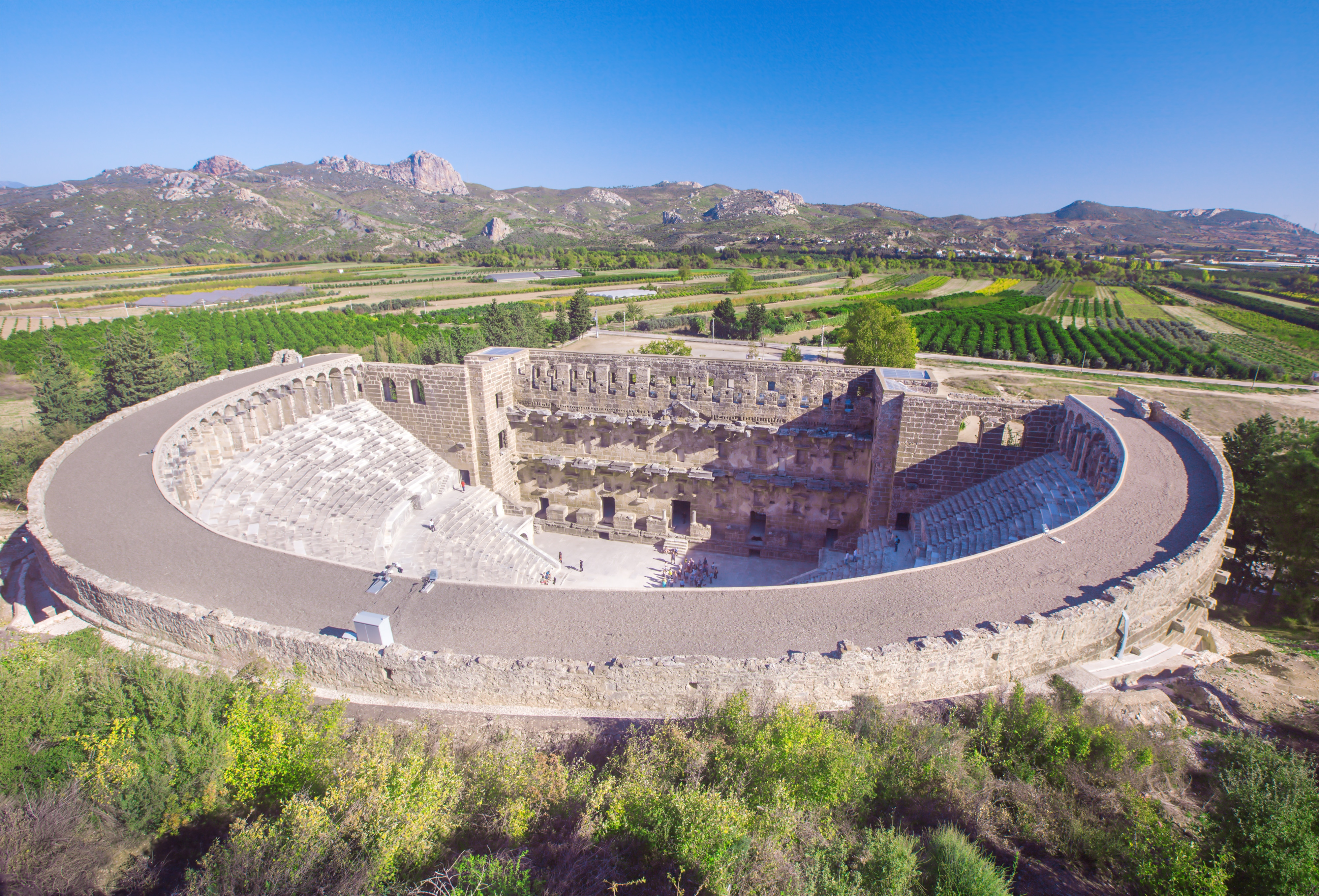 Het romeinse amfitheater van Aspendos