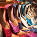 Schoenen op de bazaar in Turkije