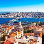 Panorama over Istanbul, Turkije