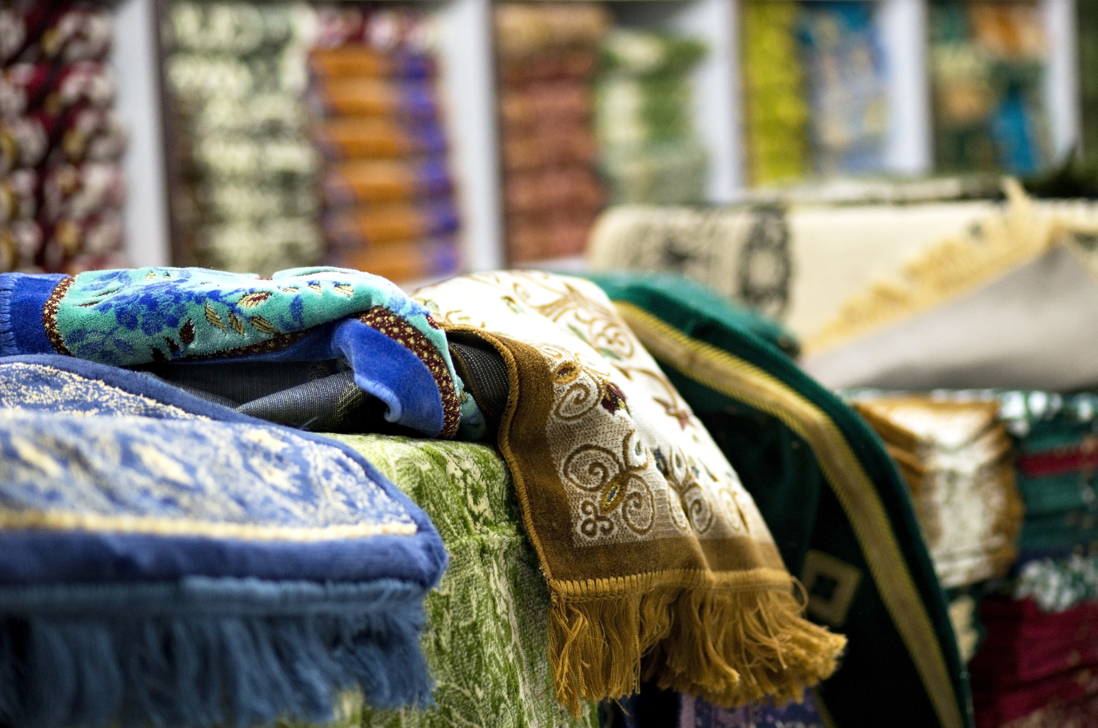 Turkse tapijten op de bazaar
