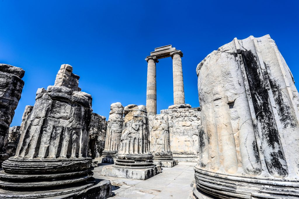 Apollo tempel in Didim, Turkije