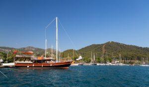 Boten in Gocek, Turkije