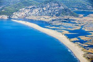 Iztuzu beach in Dalyan, Turkije