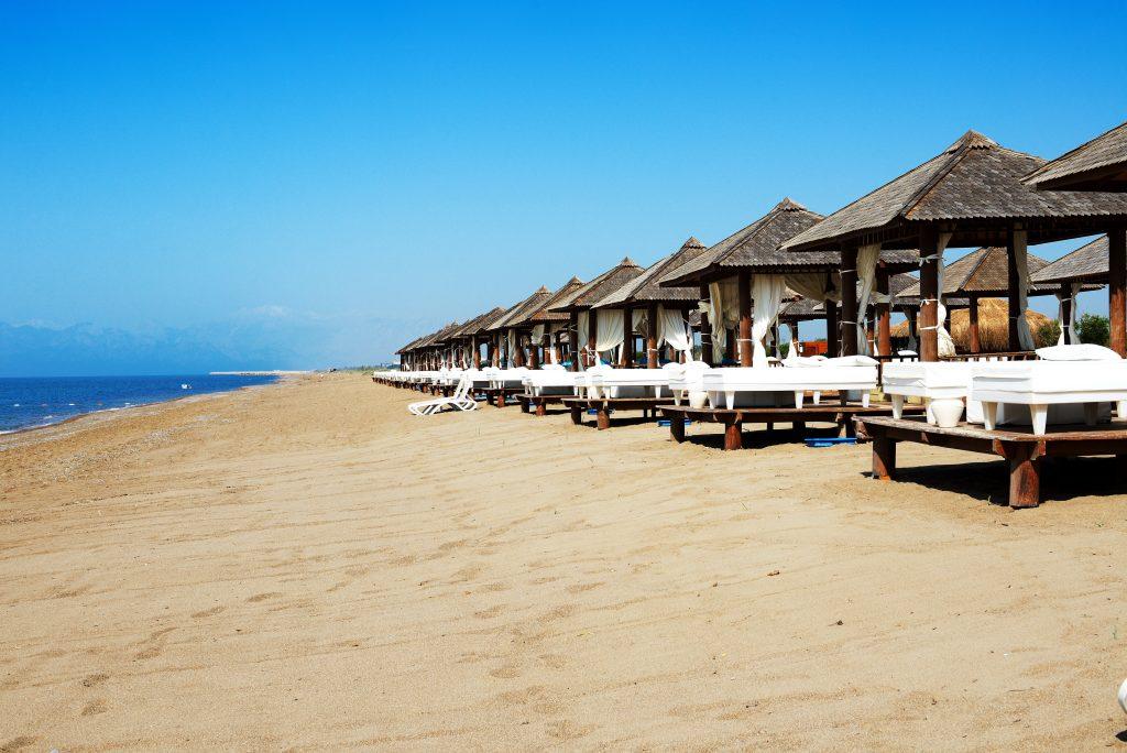 Strand van Belek, Turkije