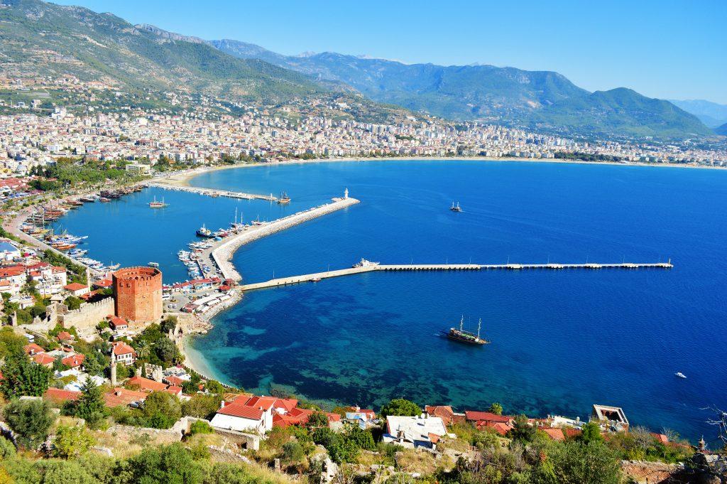 Uitzicht op Alanya, Turkije