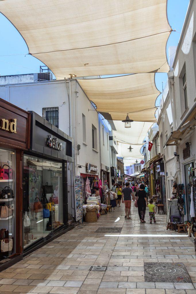 Winkelstraat in Bodrum, Turkije