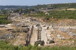 Uitzicht over Perge in Antalya
