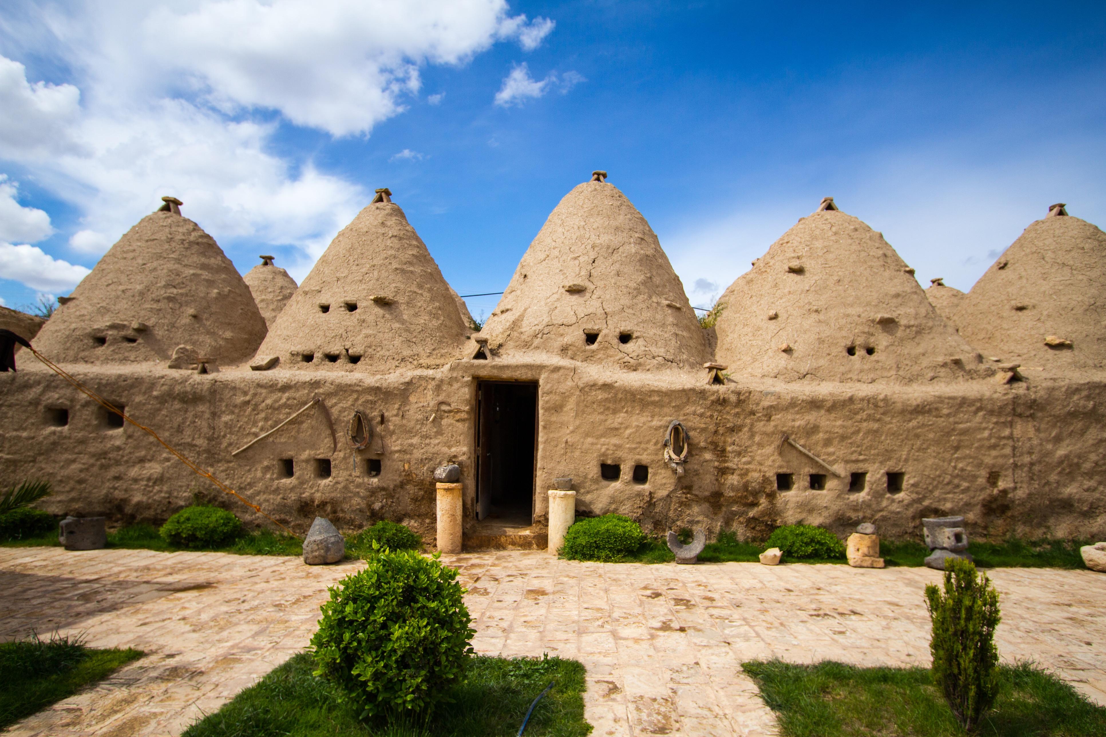 Bijenhuizen in Harran, Turkije