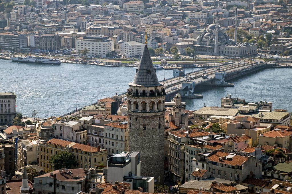 Galatatoren in Istanbul, Turkije