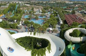 Waterpark van Hotel Splashworld Ali Bey Park in Side, Turkije