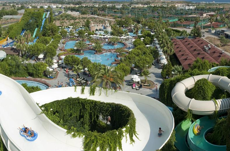 Waterpark van Hotel Splashworld Ali Bey Park in Side, Turkije