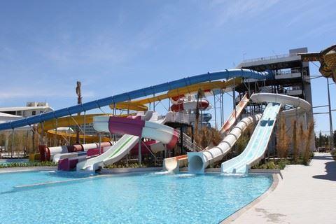Waterpark van Sueno Deluxe hotel in Belek, Turkije
