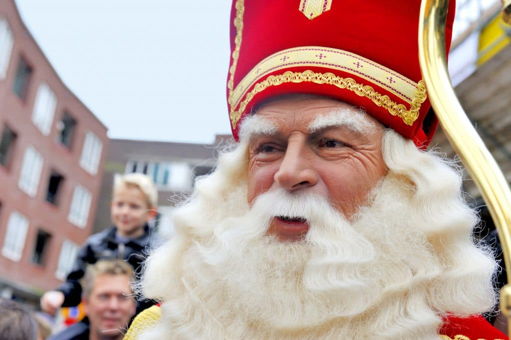 Close-up van Sinterklaas