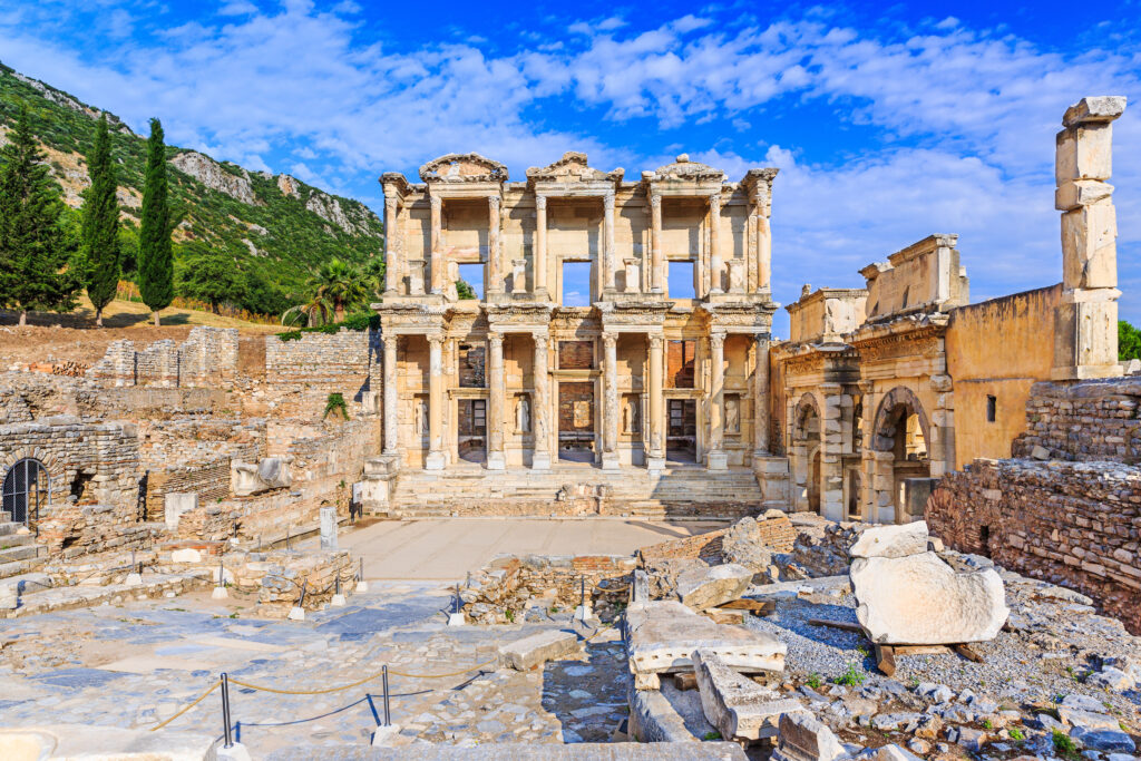 Bibliotheek van Celsus in Efeze, Turkije