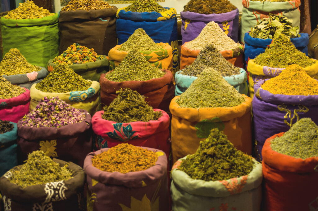 Kruiden op de markt